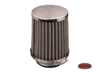 more details on Cone air filter, chrome - Various aircooled