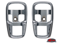 more details on Escutcheon, cab door release lever, chrome - Various aircooled