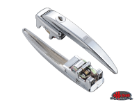 more details on Chrome Ice Pick door handle, locking, pair - Type 2, 60>63
