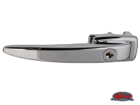 more details on Chrome Ice Pick door handle, locking - Type 2, 60>63