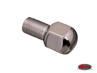 more details on Chrome wheel bolt, M14 x 1.5 x 20mm, radius - Various aircooled