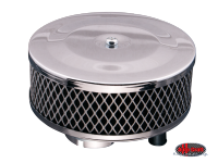 more details on Pancake air filter, chrome - 1200-1600cc