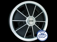 more details on Alloy wheel, BRM, matte black - Various aircooled