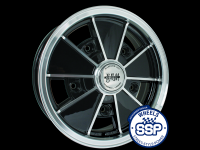 more details on Alloy wheel, BRM, black & polished - Various aircooled