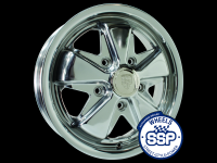 more details on Alloy wheel, Fooks, 4.5j, polished - Various aircooled