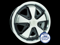 more details on Alloy wheel, Fooks, black & polished - Various aircooled