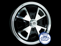 more details on Alloy wheel, 914, black & polished - Various aircooled