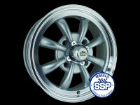more details on Alloy wheel, GT 8 spoke, silver & polished - Various aircooled