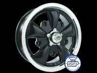 more details on Alloy wheel, GT 5 spoke, black & polished - Various aircooled