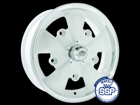 more details on Alloy wheel, GT 5 spoke, white & polished - Various aircooled