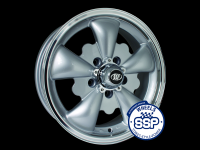 more details on Alloy wheel, GT 5 spoke, silver & polished - Various aircooled