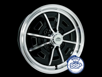 more details on Alloy wheel, Sprintstar, Black & polished - Various aircooled