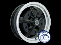 more details on Alloy wheel, Raider, black & polished - Various aircooled