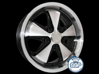 more details on Alloy wheel, Fooks 17inch, black & polished, TUV approved - Various aircooled