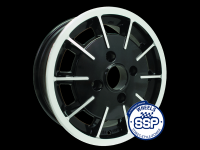 more details on Alloy wheel, Gas burner, black & polished, TUV approved - Various aircooled