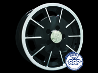 more details on Alloy wheel, Gas burner, black & polished - Various aircooled