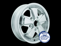 more details on Alloy wheel, Fooks, 4.5j, chrome, TUV approved - Various aircooled