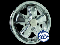 more details on Alloy wheel, Fooks, 5.5j, polished, TUV approved - Various aircooled