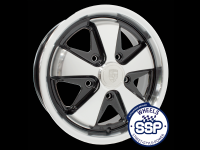 more details on Alloy wheel, Fooks, 5.5j, black & polished, TUV approved - Various aircooled