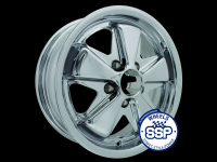 more details on Alloy wheel, Fooks, chrome, TUV approved - Various aircooled