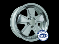 more details on Alloy wheel, Fooks, polished, TUV approved - Various aircooled