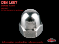 more details on 'Acorn' cap nut, M 6, stainless steel - DIN 1587