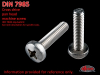 more details on Screw, cross drive pan head, AM 4 X 8, stainless steel - DIN 7985