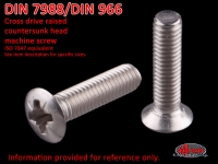 more details on Screw, cross drive countersunk raised head, AM 8 X 18, stainless steel - DIN 7988