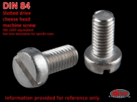 more details on Screw, slotted drive cheese head, AM 5 X 10, stainless steel - DIN 84
