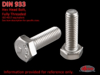 more details on Bolt, hex. head, M 6 X 10, stainless steel - DIN 933