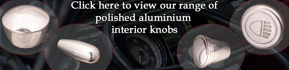 Polished aluminium interior knobs